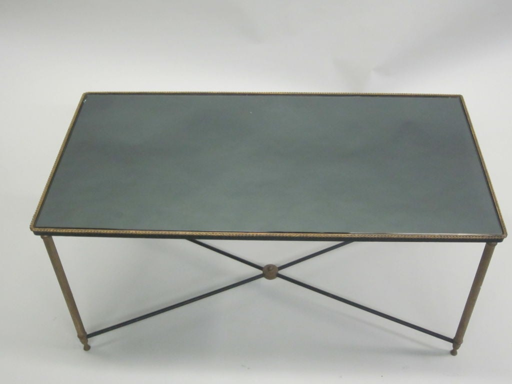 French Mid-Century Modern Neoclassical Cocktail Table, Attr. Maison Jansen In Good Condition For Sale In New York, NY