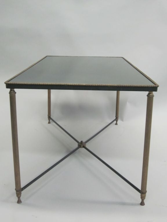 French Mid-Century Modern Neoclassical Cocktail Table, Attr. Maison Jansen For Sale 1