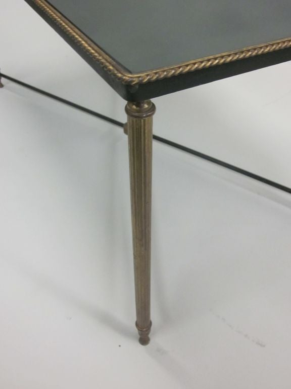 French Mid-Century Modern Neoclassical Cocktail Table, Attr. Maison Jansen For Sale 2
