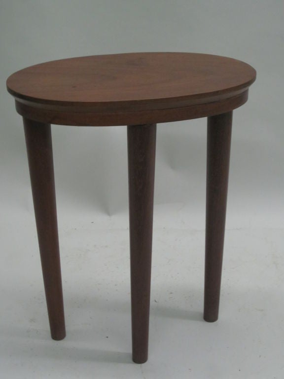 Pair of French Colonial Solid Wood Side Tables / Consoles / Nightstands, 1930 For Sale 1