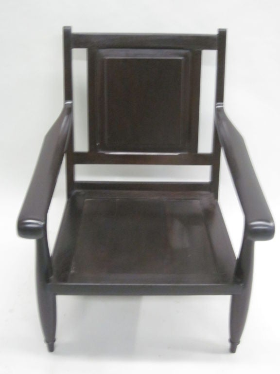 Important Pair Of Modern Neoclassical French Colonial Lounge Chairs For  Sale 2