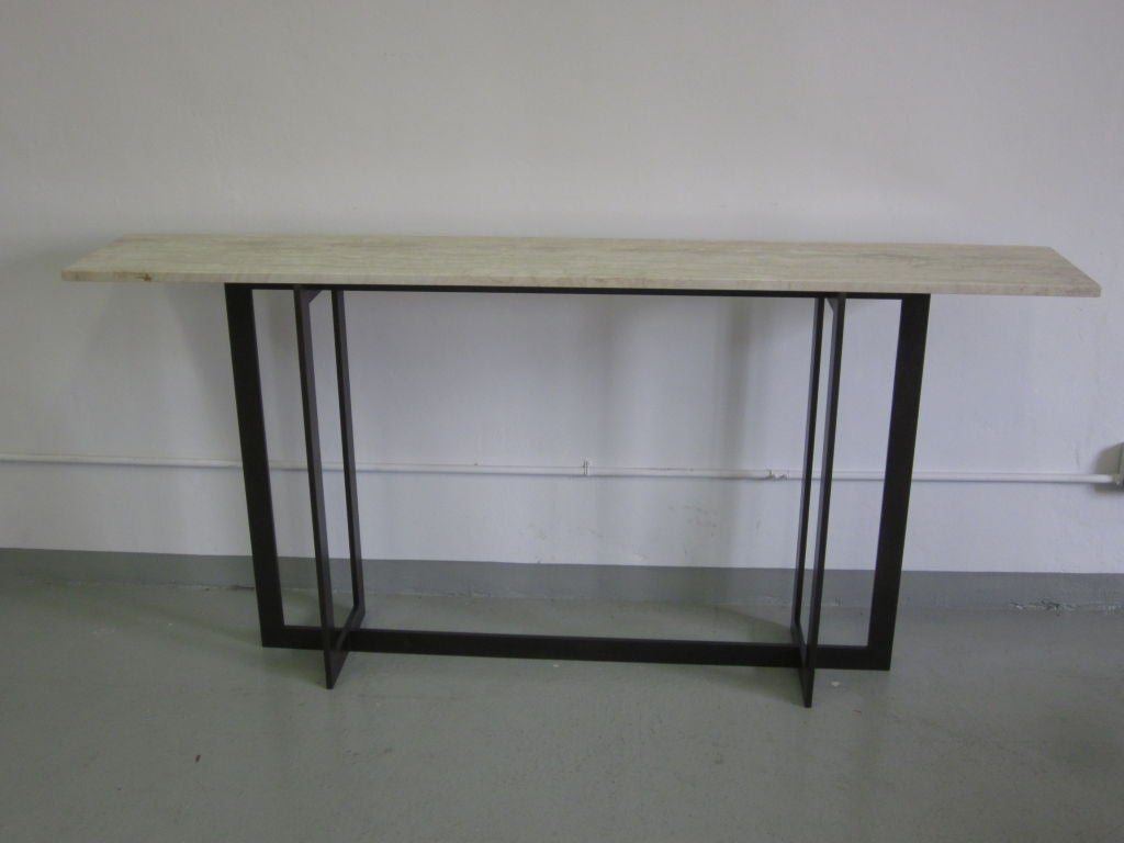 Midcentury Style large french midcentury style console in the manner of jacques