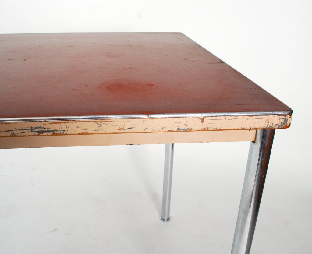 rare early table desk by le corbusier image 3. Black Bedroom Furniture Sets. Home Design Ideas