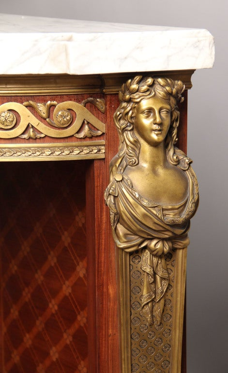 French A Mid 19th Century Gilt Bronze Mounted Cabinet By Charles-Guillaume Winckelsen For Sale