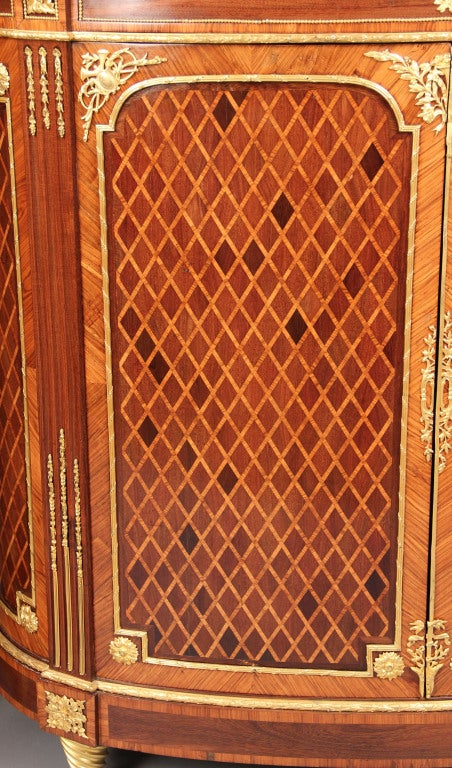 Wonderful Pair of Late 19th Century Gilt Bronze Mounted Parquetry Cabinets In Excellent Condition For Sale In New York, NY