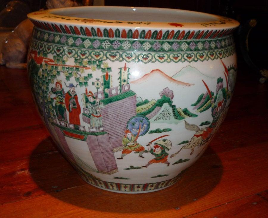 Large Chinese Porcelain Fish Bowl C 1860 At 1stdibs