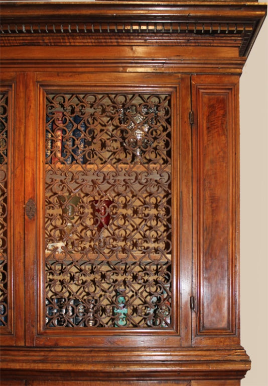 17th Century Tuscan Archival Bookcase Or Dining Room