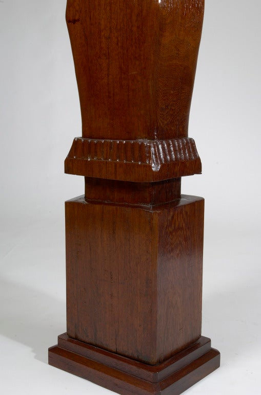 Africanist Palmwood Pedestal by Charles Combes For Sale 1