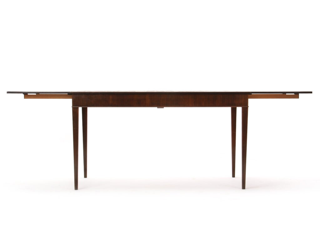 1930s Danish Rosewood and Tile Dining Table by Frits Henningsen In Good Condition For Sale In Sagaponack, NY