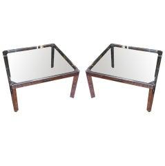 Pair of Milo Baughman Side Tables