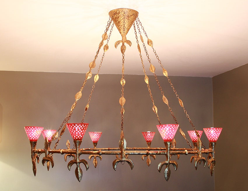 Large Chandelier from Rue Balzac by Coutant 2