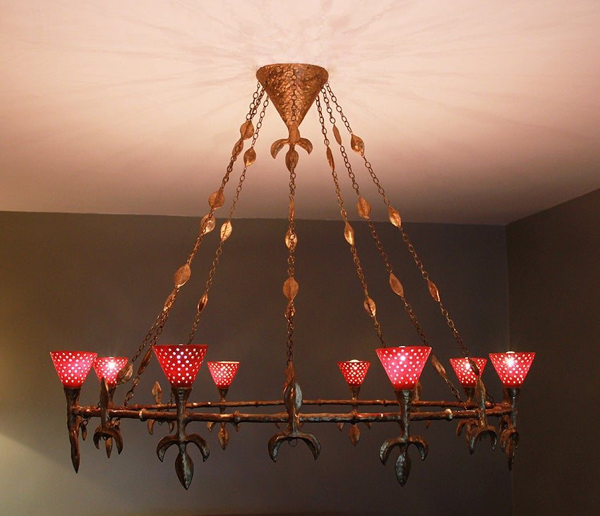 Large Chandelier from Rue Balzac by Coutant 4