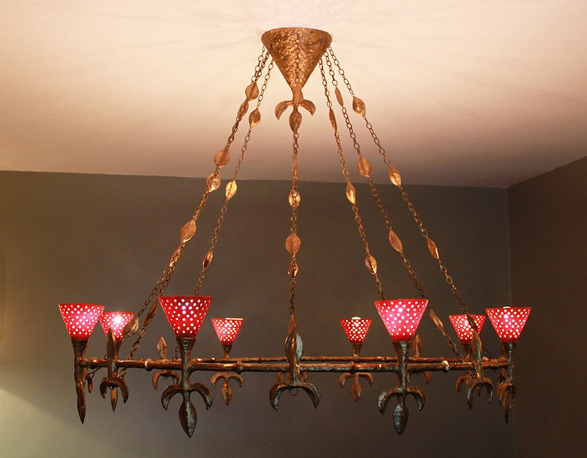 Large Chandelier from Rue Balzac by Coutant 5