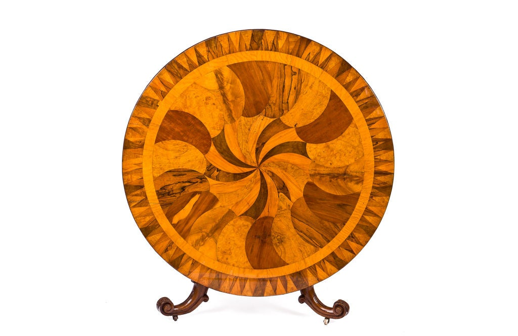 Irish Specimen Table with a Marquetry Top of Various Woods 2