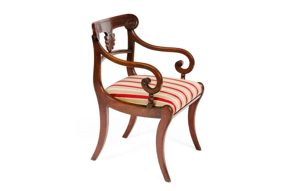 English Set of 20 Early 19th Century Regency Mahogany Dining Chairs For Sale