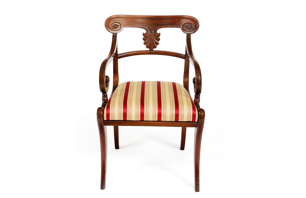 Carved Set of 20 Early 19th Century Regency Mahogany Dining Chairs For Sale
