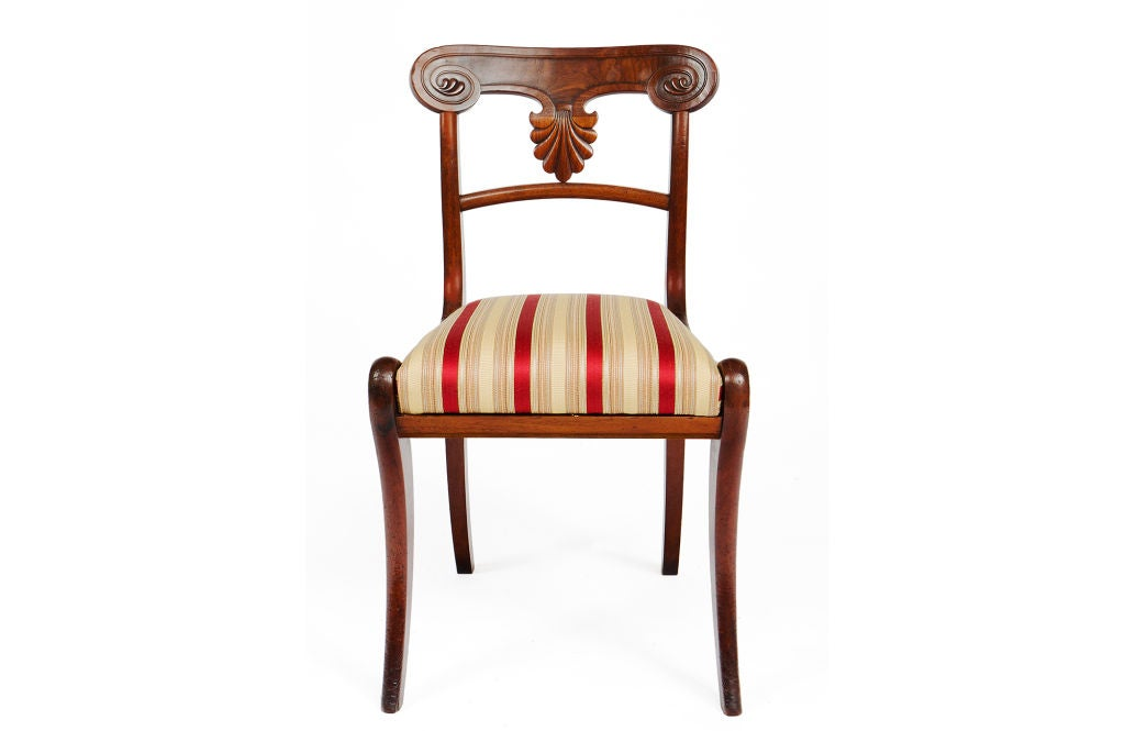Set of 20 Early 19th Century Regency Mahogany Dining Chairs In Excellent Condition For Sale In New York, NY