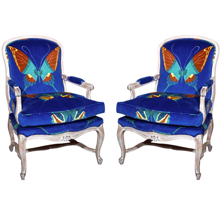 Pair Of Maison Jansen Louis XV Style Arm Chairs At 1stdibs