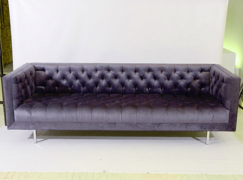 ava velvet tufted sleeper sofa canada custom maria blue midnight