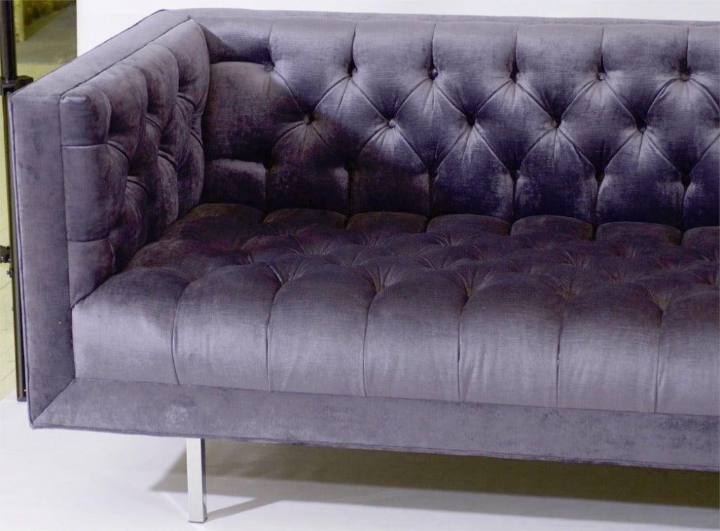 ludlow custom tufted sofa for sale at 1stdibs. Black Bedroom Furniture Sets. Home Design Ideas