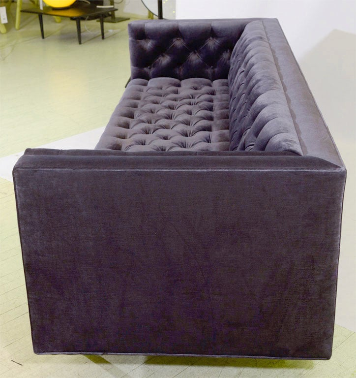 Ludlow custom tufted sofa for sale at 1stdibs for Tufted couches for sale