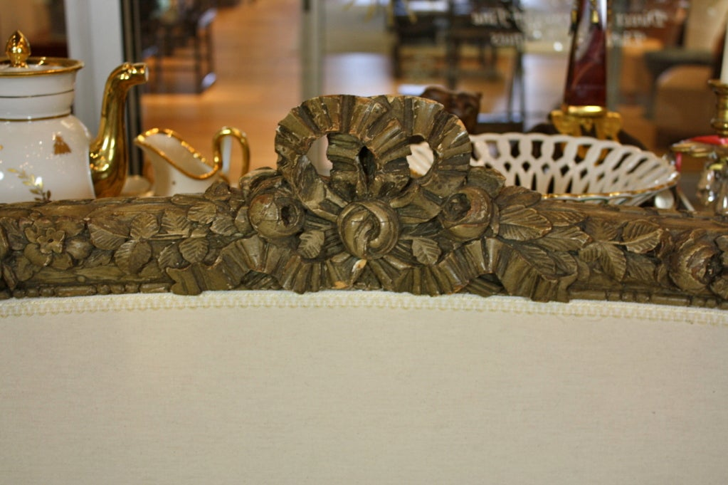 19th Century French Highly-Carved Louis XVI Style Sofa For Sale