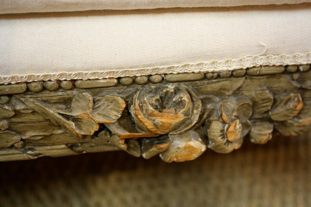 French Highly-Carved Louis XVI Style Sofa For Sale 5