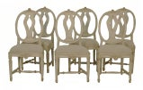 Swedish Painted Oval Back Dining Chairs