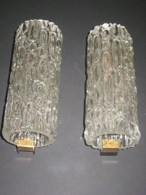Pair of Italian Murano Glass Sconces For Sale 4
