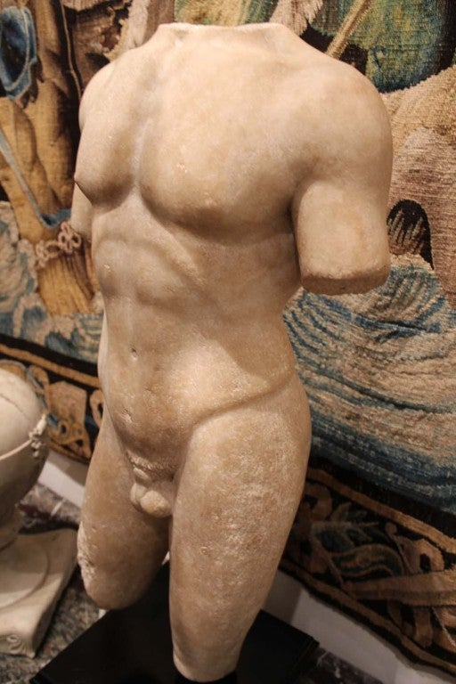 Large and Beautifully Sculpted First Century Ad Classical Roman Torso of an Athl 6