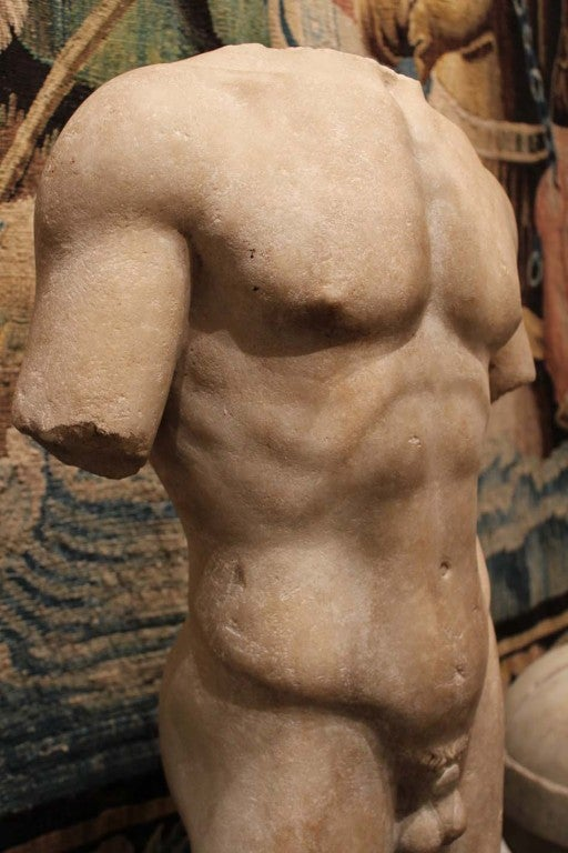 Large and Beautifully Sculpted First Century Ad Classical Roman Torso of an Athl 8