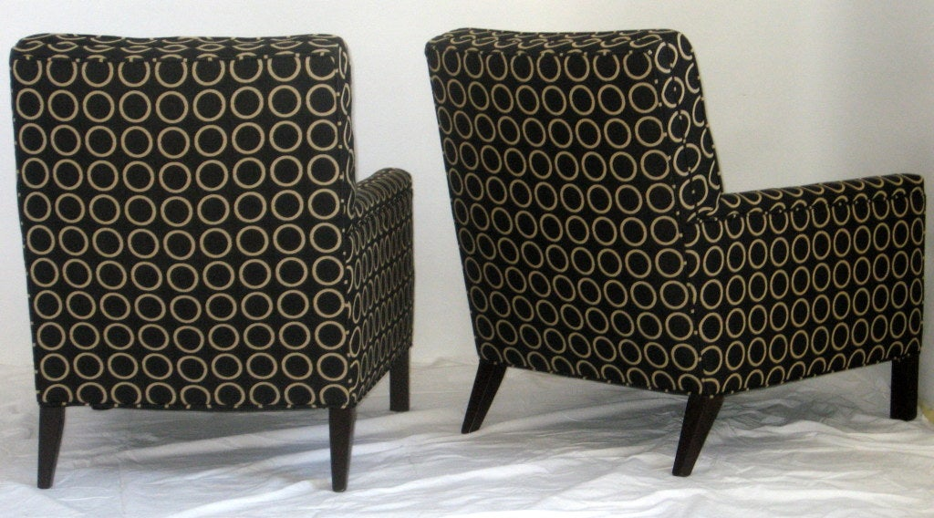 Pair of Lounge Chairs by T.H. Robsjohn-Gibbings, 1954 for Widdicomb In Excellent Condition For Sale In Camden, ME