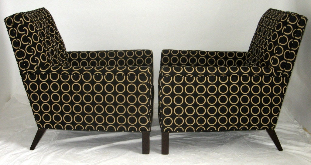 Mid-20th Century Pair of Lounge Chairs by T.H. Robsjohn-Gibbings, 1954 for Widdicomb For Sale