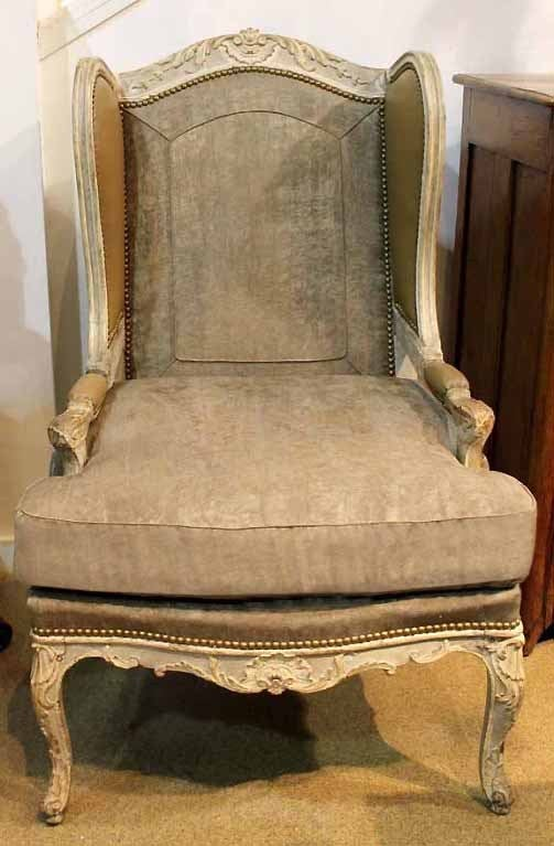 Th Century French Painted Fauteil Chairs For Sale