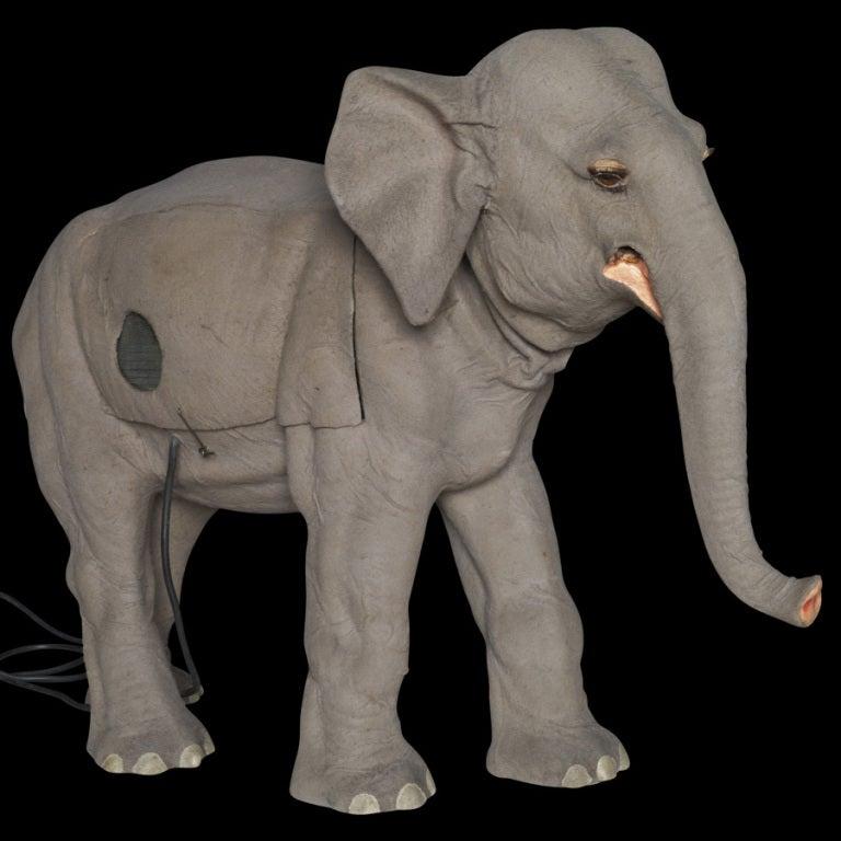 Belgian Elephant Automaton In Felt