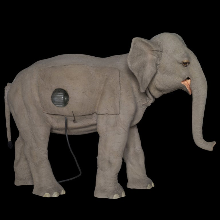 20th Century Elephant Automaton In Felt