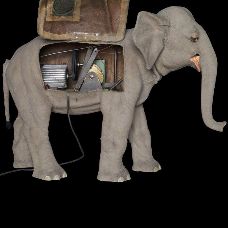 Elephant Automaton In Felt 1