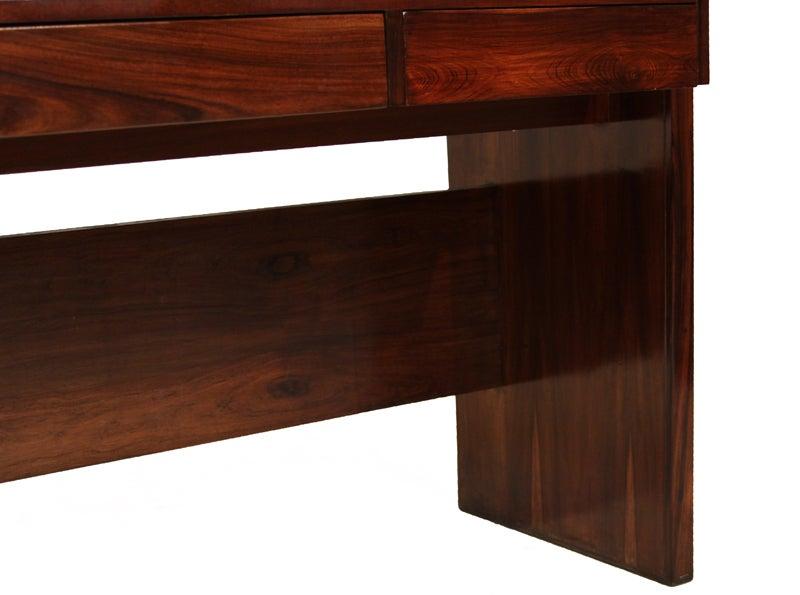 Rosewood and black glass desk by Joaquim Tenreiro image 8