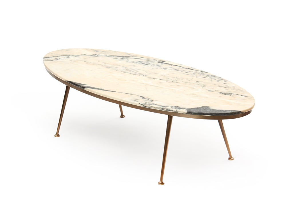 oval carrera marble low table at 1stdibs