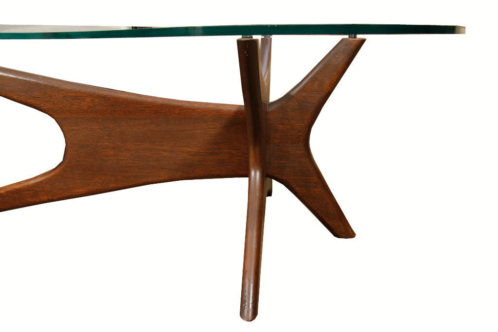 Https Www 1stdibs Com Furniture Tables Coffee Tables Cocktail Tables Adrian Pearsall Walnut Base Kidney Shape Coffee Table Id F 525128
