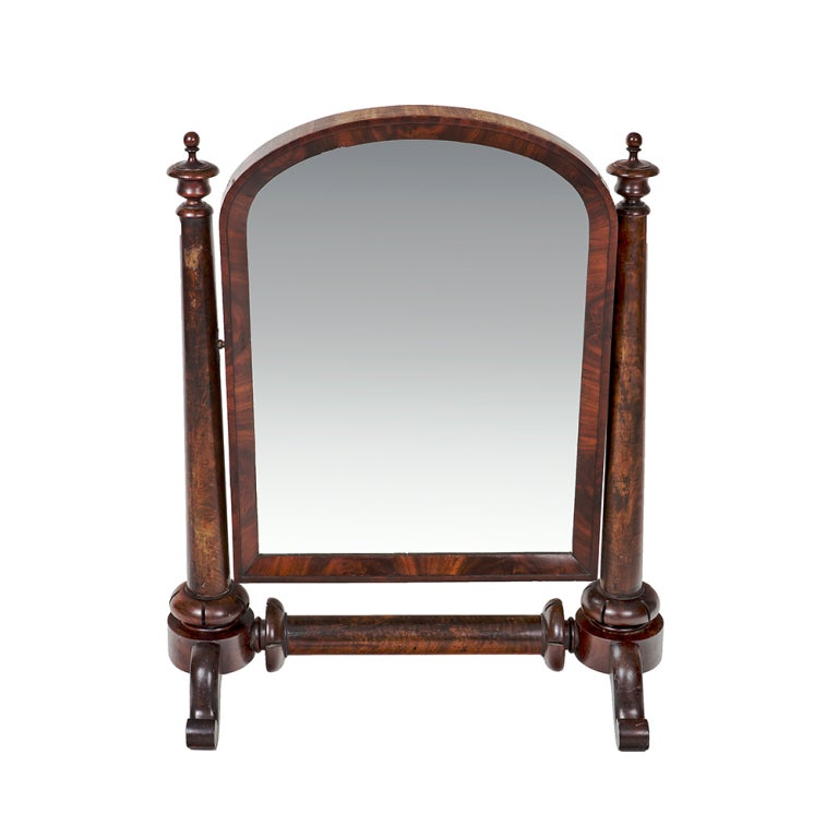 William IV Mahogany Crutch Mirror 2