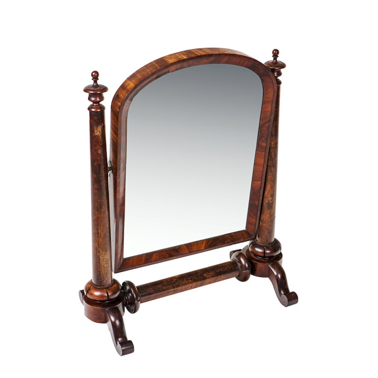 William IV Mahogany Crutch Mirror 3