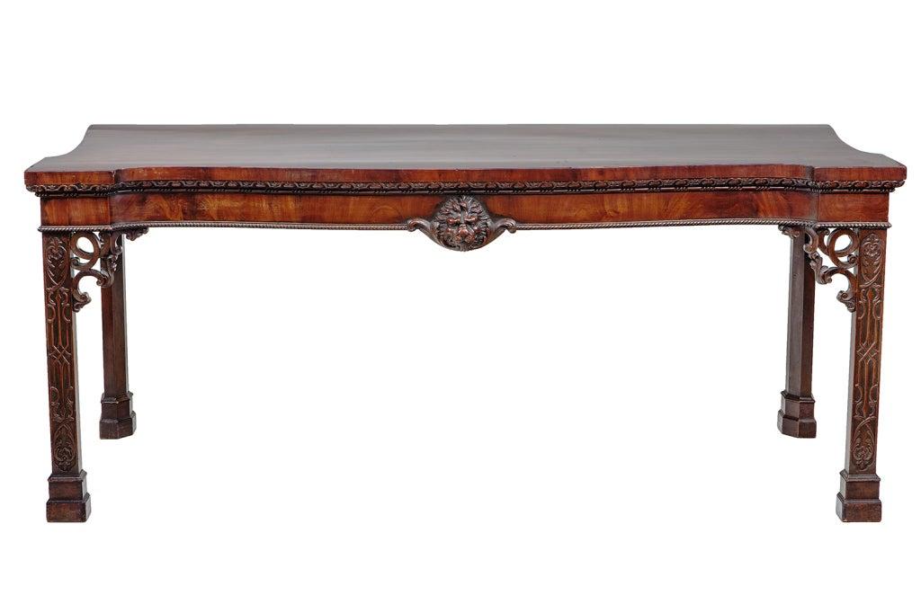 19th century irish mahogany console table at 1stdibs for Sofa table ireland