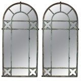 Forged Iron Floral Motif Mirrors
