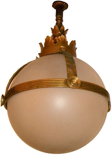 Bronze And Glass Lantern At 1stdibs