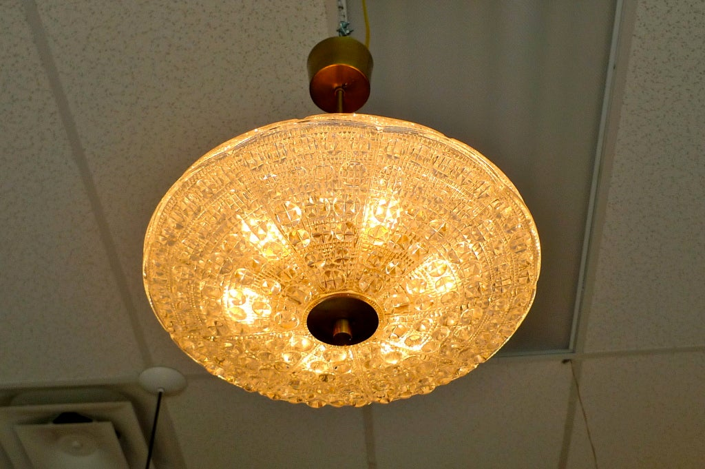 Carl Fagerlund Crystal Pendant for Orrefors In Good Condition For Sale In Hingham, MA