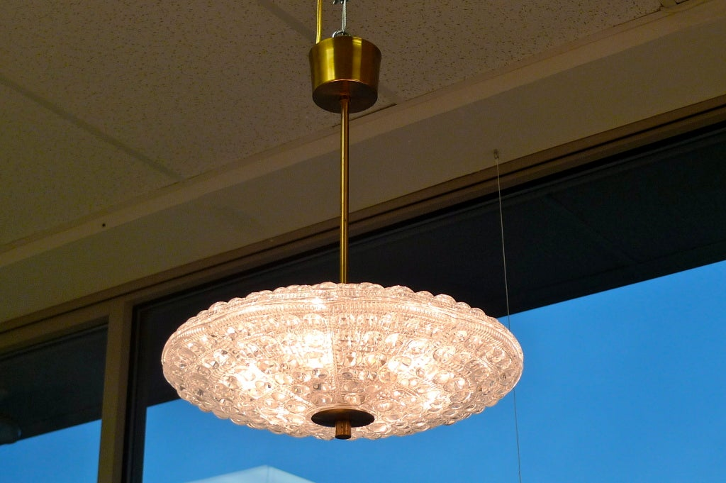 Mid-20th Century Carl Fagerlund Crystal Pendant for Orrefors For Sale
