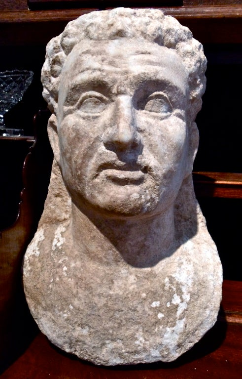 Period Roman Marble Bust of a Man.  Syrian Colony.  Guaranteed