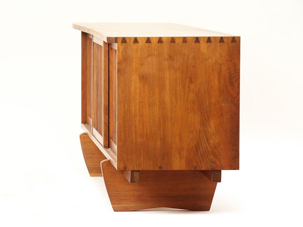 Vintage Walnut and Linen Sideboard 2