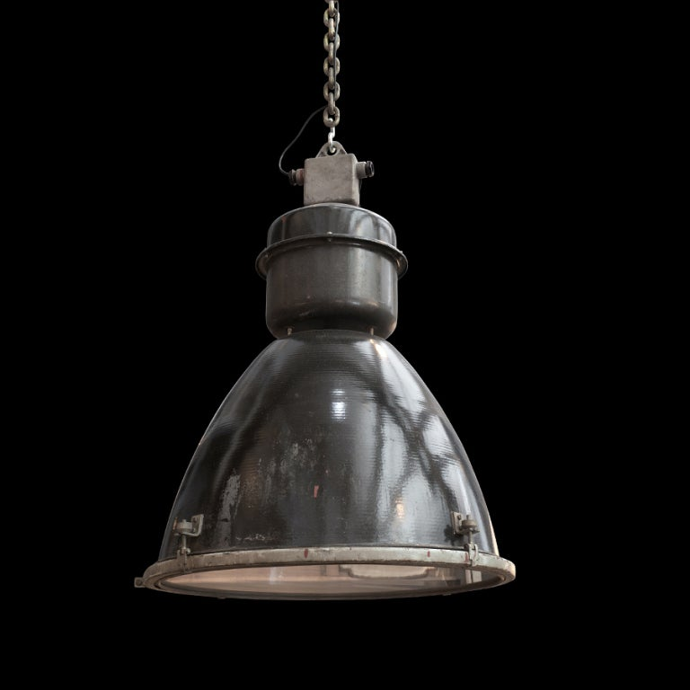 oversized industrial pendant light at 1stdibs